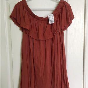Shoulderless summer dress